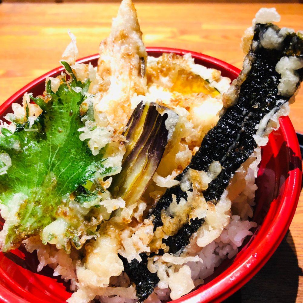 穴子と野菜の天丼