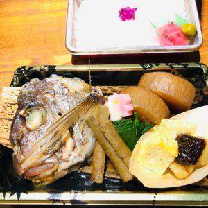 鯛のカブト煮弁当