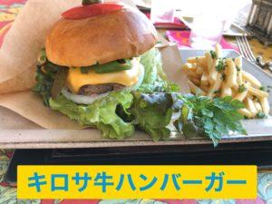 キロサ牛のハンバーガー
