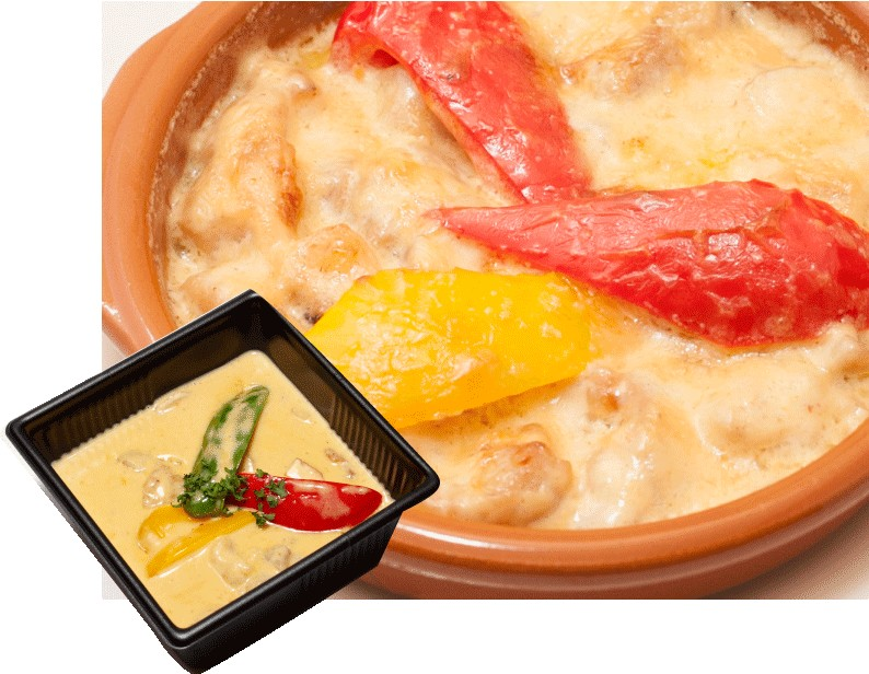 エルカミーノ:鶏肉とマッシュルームのクリーム煮シェリー酒風味