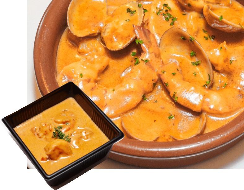 エルカミーノ:魚介とエビのクリーム煮