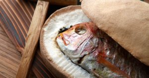 舞阪天然真鯛の塩釜焼き 大