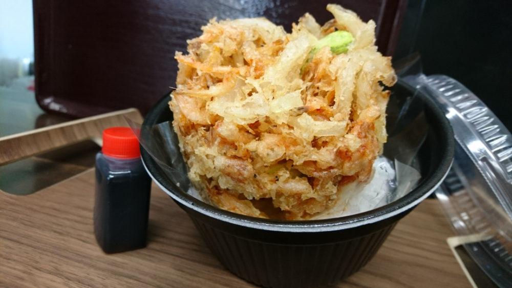 手打ち蕎麦/会席料理 たけがみ 桜海老と帆立のかき揚げ丼