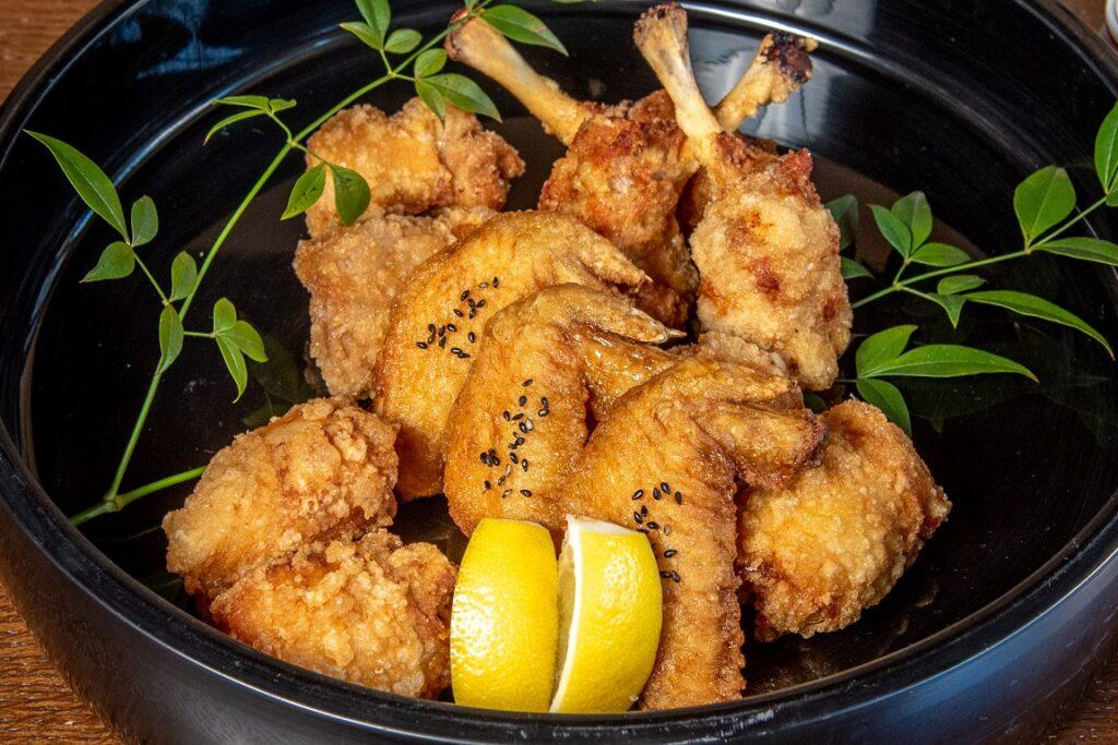 鳥焼もろ川:錦爽鶏の唐揚げ