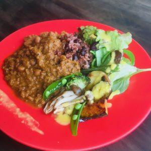 発酵玄米とマクロビカレー