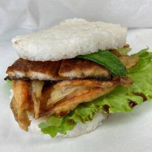 牡蠣のライスバーガー